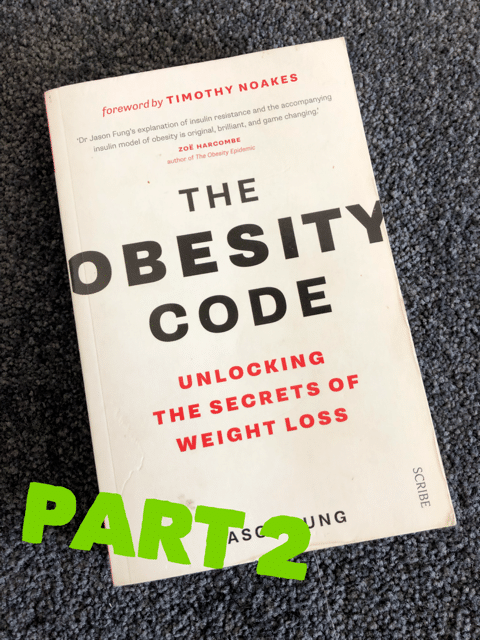 The Obesity Code book continued…