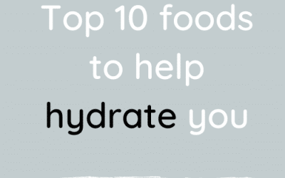 Top 10 foods to help hydrate you.