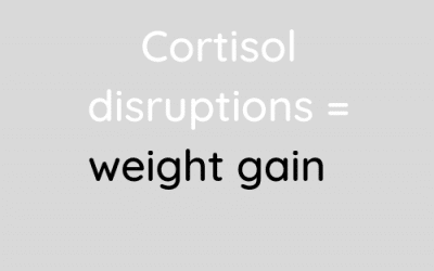 Cortisol disruption and weight gain