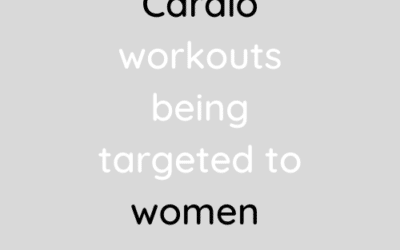 Cardio workouts being marketed to women